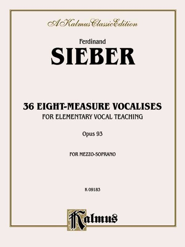 36 Eight Measure Vocals, Op. 93 - Soprano