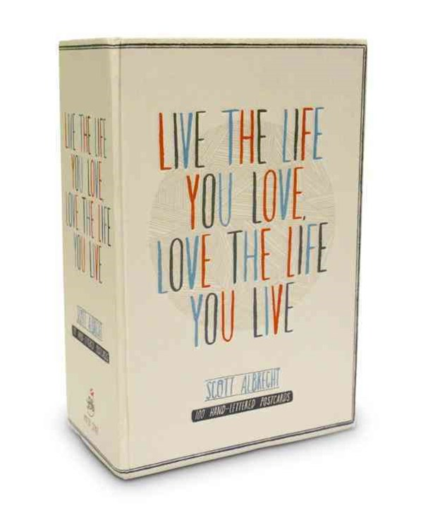 Live The Life You Love Postcard Box
