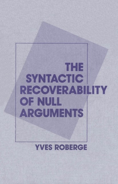 (ebook) Syntactic Recoverability of Null Arguments