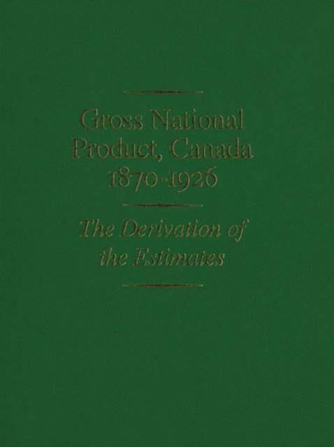 (ebook) Gross National Product, Canada, 1870-1926