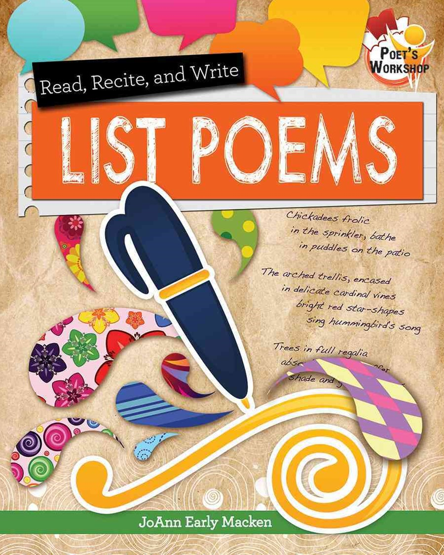 Read Recite and Write List Poems - Poets Workshop