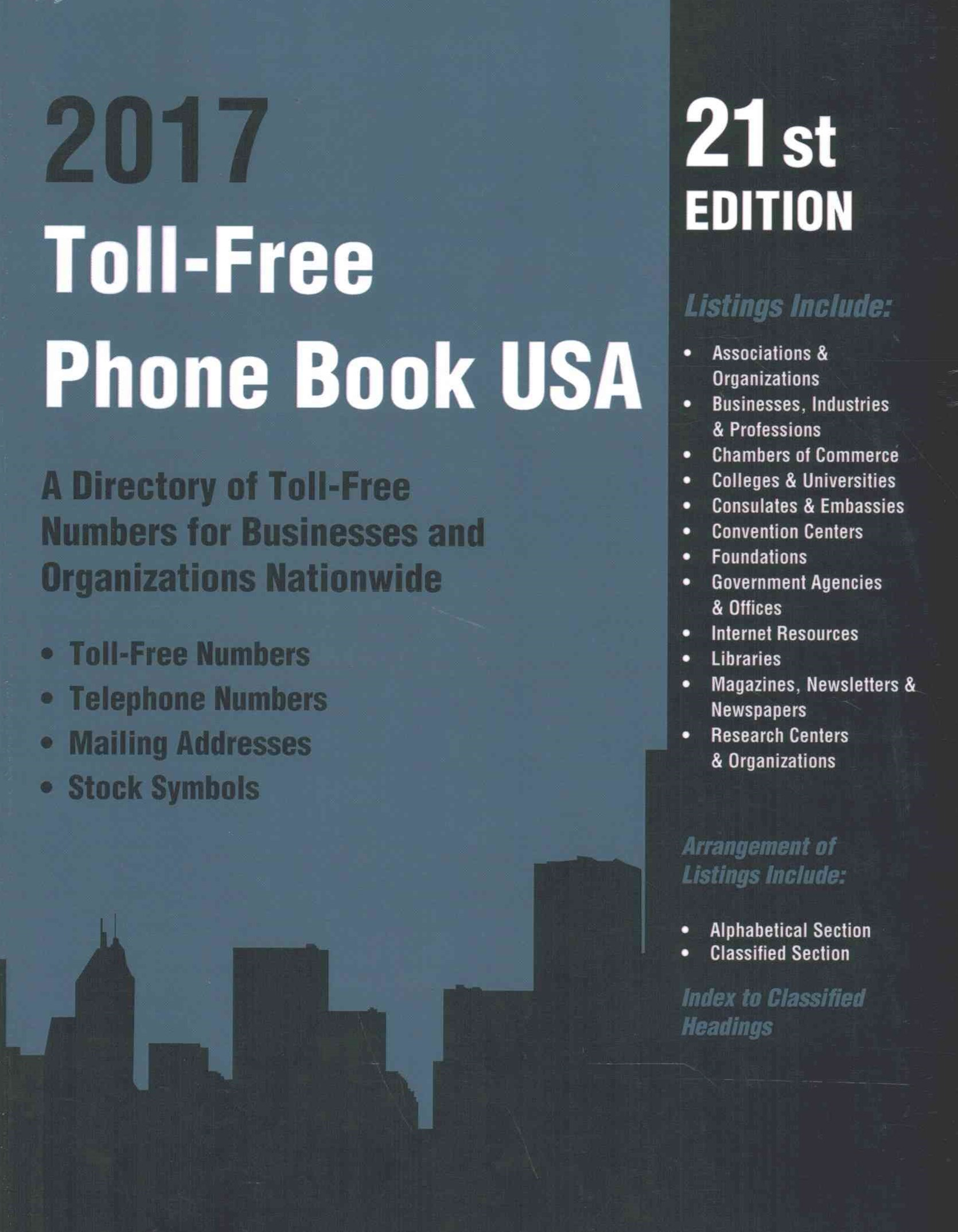 Toll-Free Phone Book USA 2017