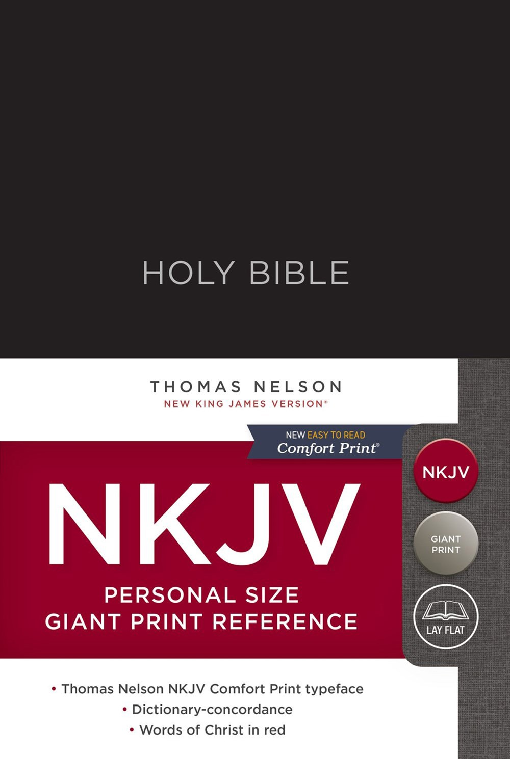 NKJV Personal Size Reference Bible Red Letter Edition [Giant Print, Black]