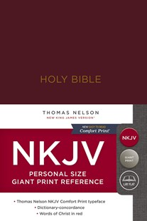 NKJV Personal Size Reference Bible Red Letter Edition [Giant Print, Burgundy] by Thomas Nelson (9780785216667) - HardCover - Religion & Spirituality Christianity