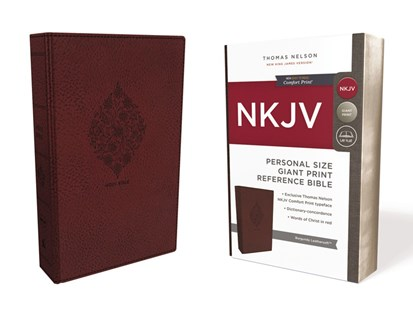 NKJV Personal Size Reference Bible Red Letter Edition [Giant Print, Burgundy] by Thomas Nelson (9780785216704) - PaperBack - Religion & Spirituality Christianity