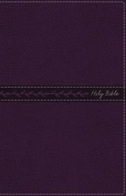 KJV Thinline Bible Standard Print, Indexed, Red Letter Edition [Purple]