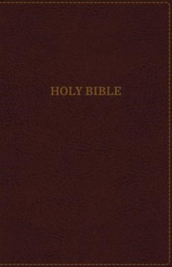 KJV Thinline Bible, Large Print, Indexed, Red Letter Edition [Burgundy]