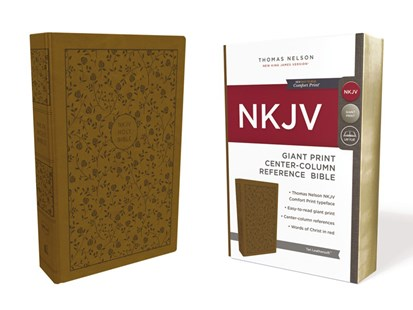 NKJV Reference Bible Red Letter Edition [Center-Column Giant Print, Tan] by Thomas Nelson (9780785217763) - PaperBack - Religion & Spirituality Christianity
