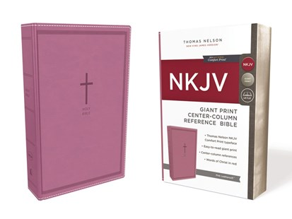 NKJV Reference Bible Red Letter Edition [Center-Column Giant Print, Pink] by Thomas Nelson (9780785217770) - PaperBack - Religion & Spirituality Christianity