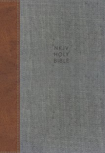 NKJV Thinline Reference Bible Red Letter Edition [Tan/Grey] by Thomas Nelson (9780785217992) - HardCover - Religion & Spirituality Christianity