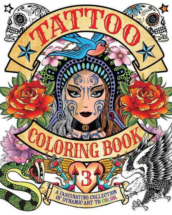 Tattoo Coloring Book 3