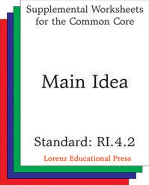Main Idea (CCSS RI.4.2)