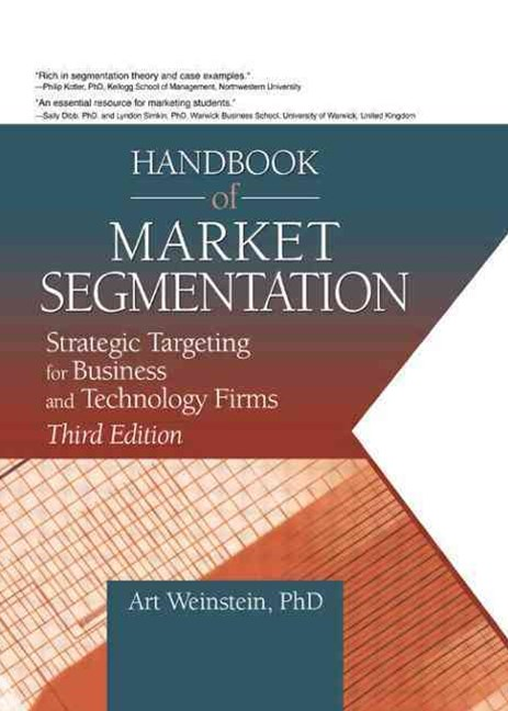 Handbook of Market Segmentation