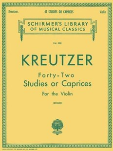 42 Studies or Caprices by Rodolphe Kreutzer, E. Singer (9780793525942) - PaperBack - Entertainment Music General