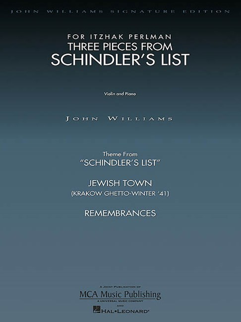 Three Pieces from Schindler's List for Itzhak Perlman
