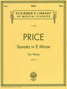 Sonata in E Minor by Florence Price, Rae Linda Brown (9780793551309) - PaperBack - Entertainment Music General