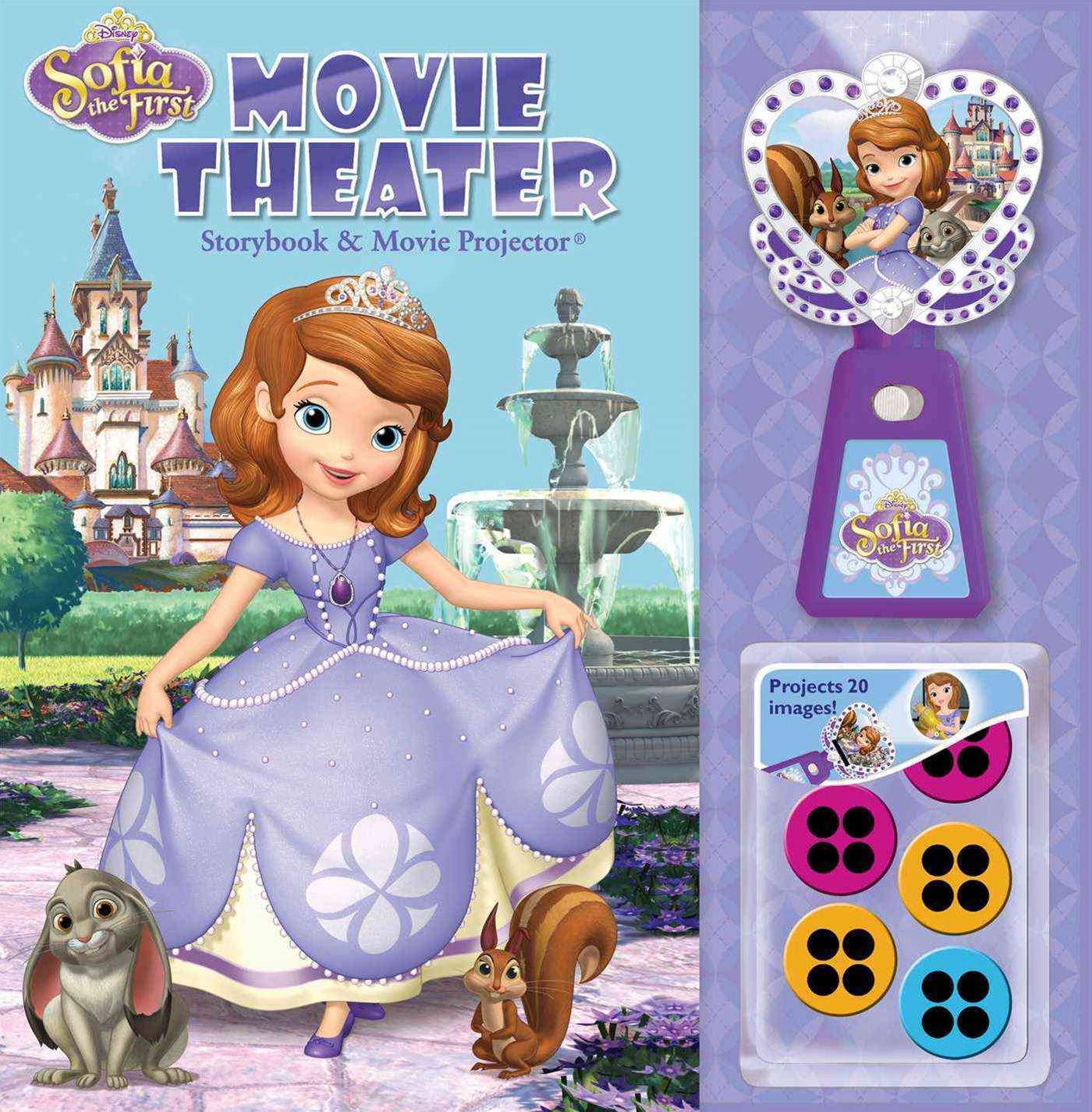 Disney Sofia the First Movie Theater Storybook and Movie Projector