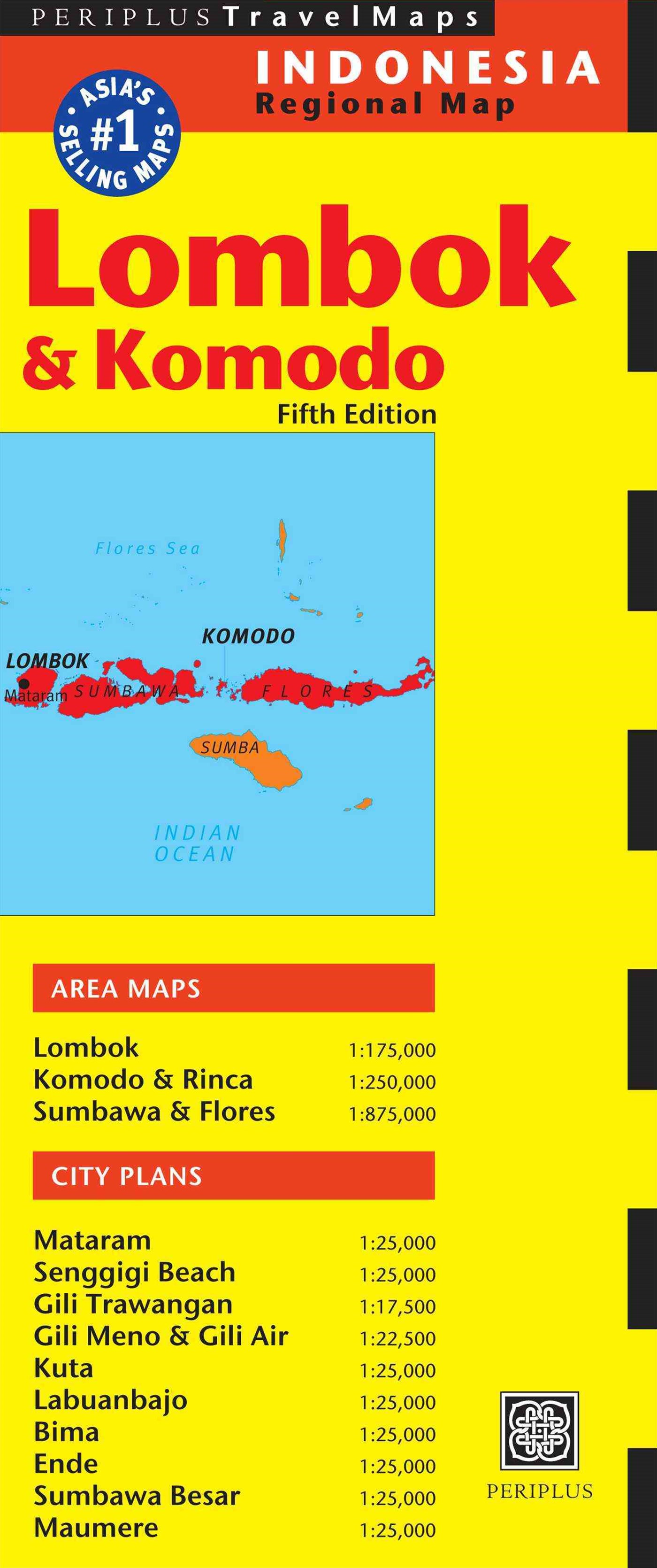 Lombok and Komodo Travel Map