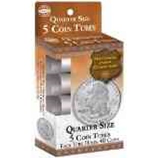 Quarter Size Coin Tube: 5 Count by Whitman Publishing (9780794828936) - HardCover - Craft & Hobbies Antiques and Collectibles