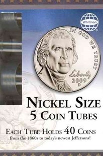 Nickel Coin Tube 5 Count Box by Whitman Publishing (9780794828950) - HardCover - Craft & Hobbies Antiques and Collectibles