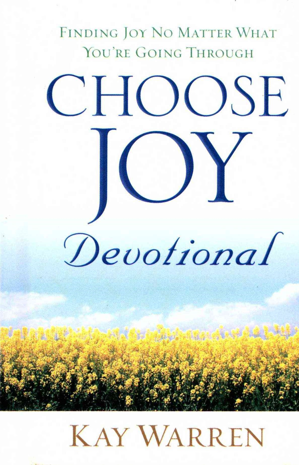 Choose Joy Devotional