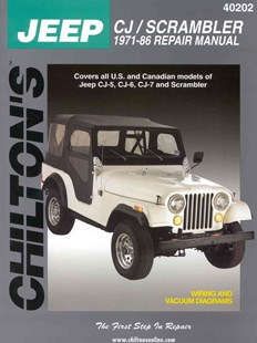 Jeep CJ/Scrambler 1971-86 Repair Manual by Chilton Book Company, Chilton's Automotives Editorial, Chilton (9780801985362) - PaperBack - Science & Technology Transport