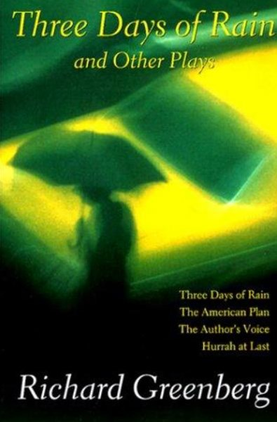 Three Days of Rain and Other Plays