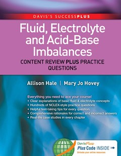 Fluid, Electrolyte, and Acid-Base Imbalances with Access Code by Allison HaleMsn Ba RN, Mary Jo HoveyMsn RN, Mary Jo Hovey (9780803622616) - PaperBack - Reference Medicine