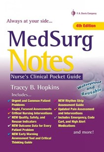 MedSurg Notes by Tracey HopkinsRN Bsn (9780803657625) - PaperBack - Reference Medicine