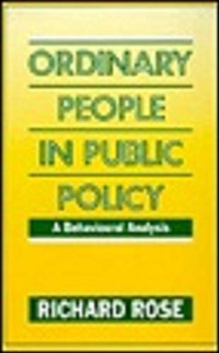 Ordinary People in Public Policy