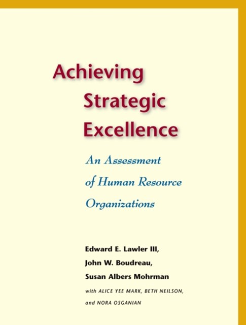 (ebook) Achieving Strategic Excellence