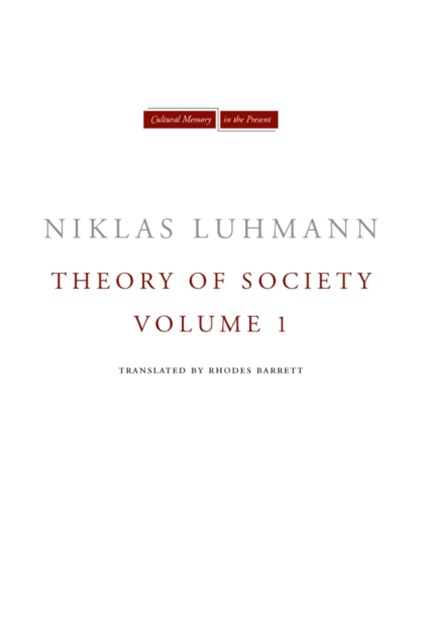 (ebook) Theory of Society, Volume 1