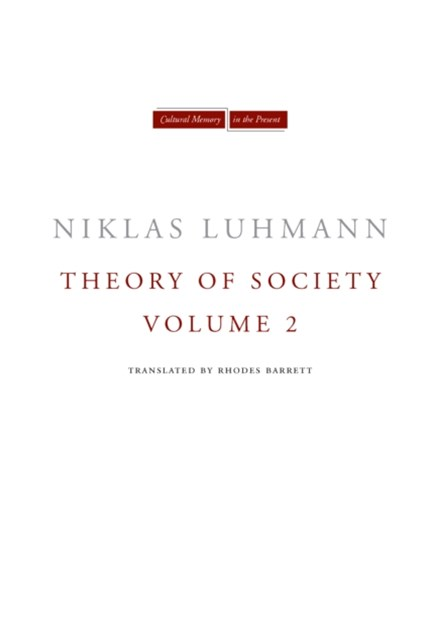 (ebook) Theory of Society, Volume 2