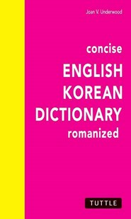 Concise English-Korean Dictionary by Joan V. Underwood (9780804801188) - PaperBack - Language Asian Languages
