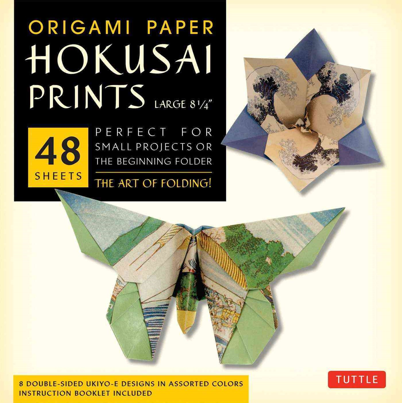 Origami Paper Hokusai Prints (Large 8 1/4&quote;)