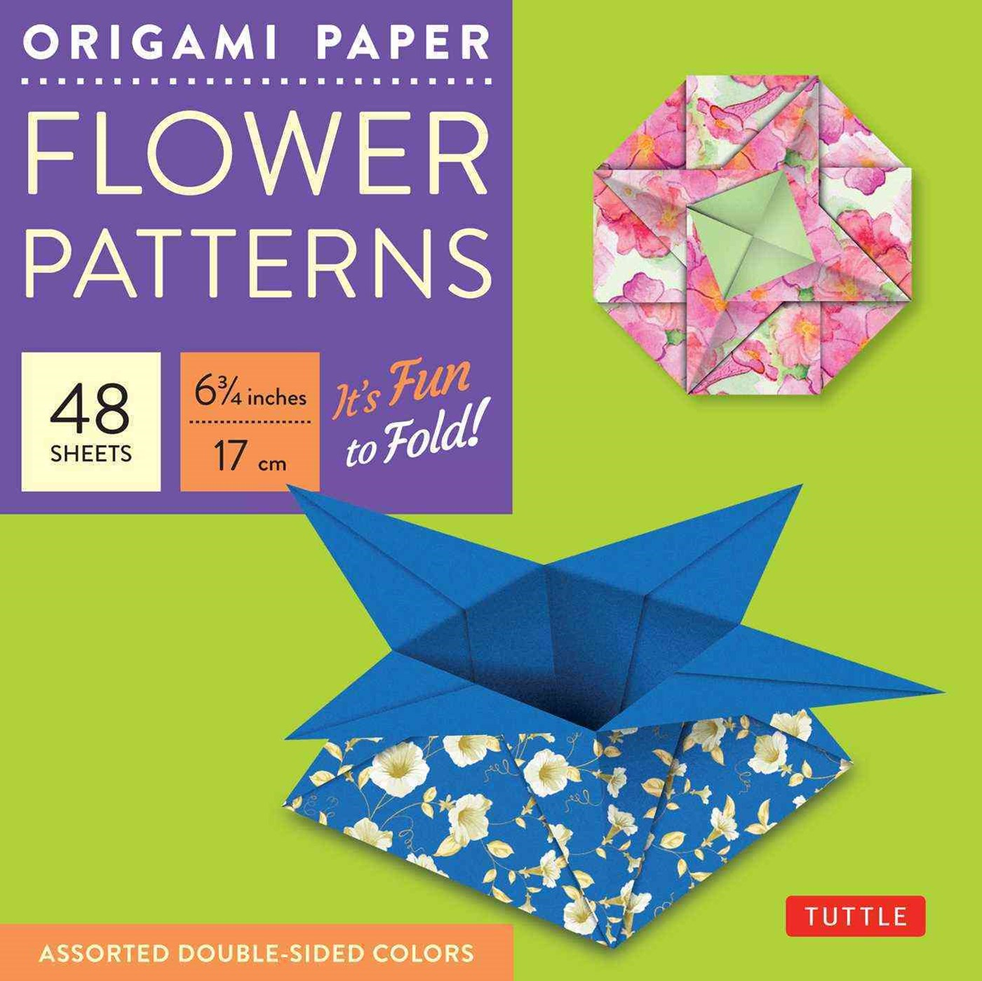 Origami Paper - Flower Patterns