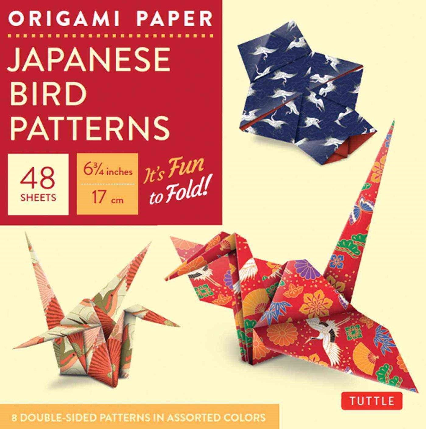 Origami Paper : Japanese Bird Patterns 17cm