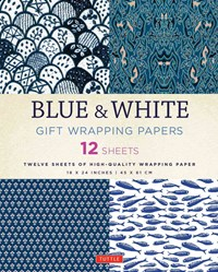 Blue and White Gift Wrapping Papers