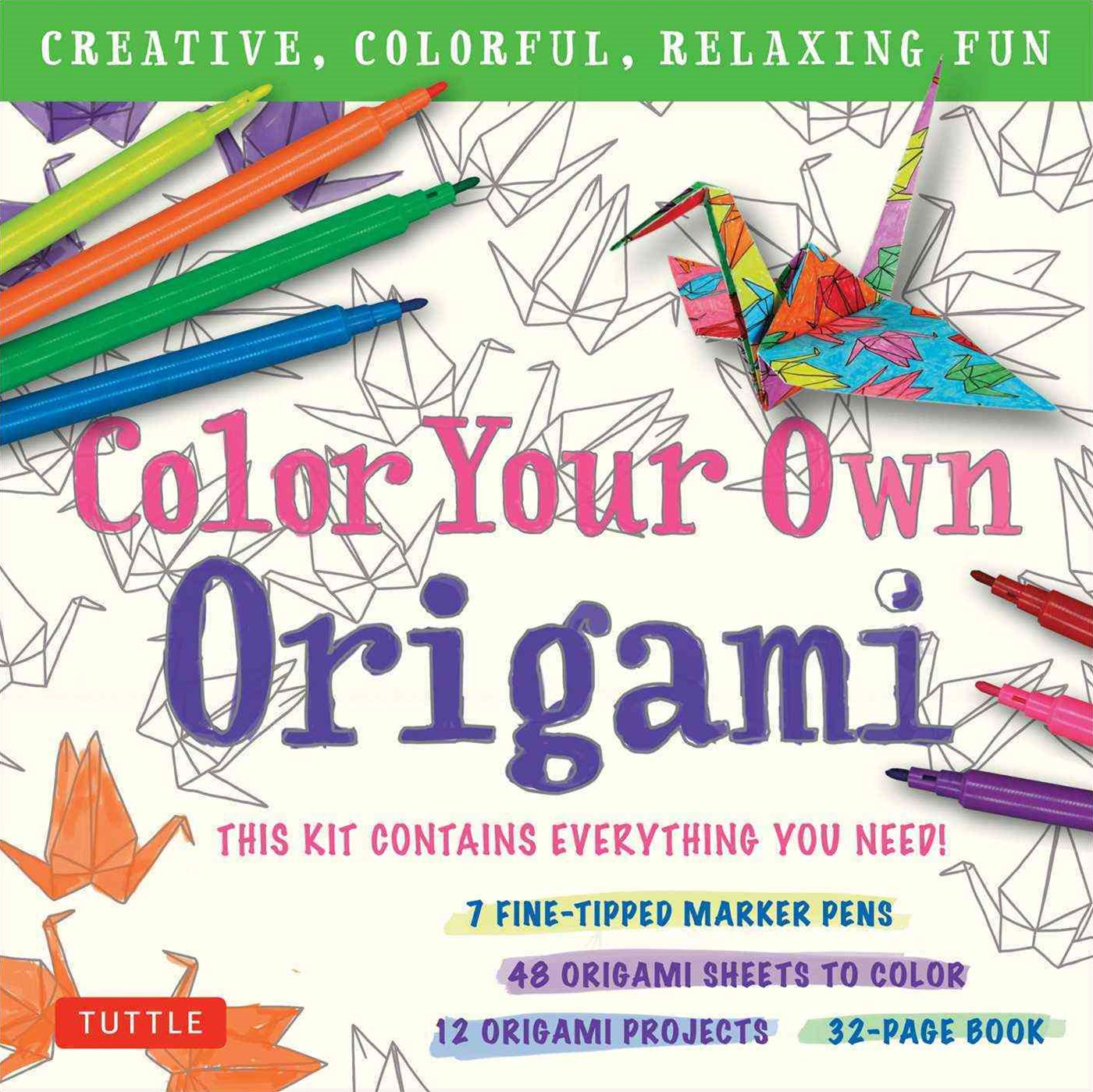 Colour Your Own Origami Kit