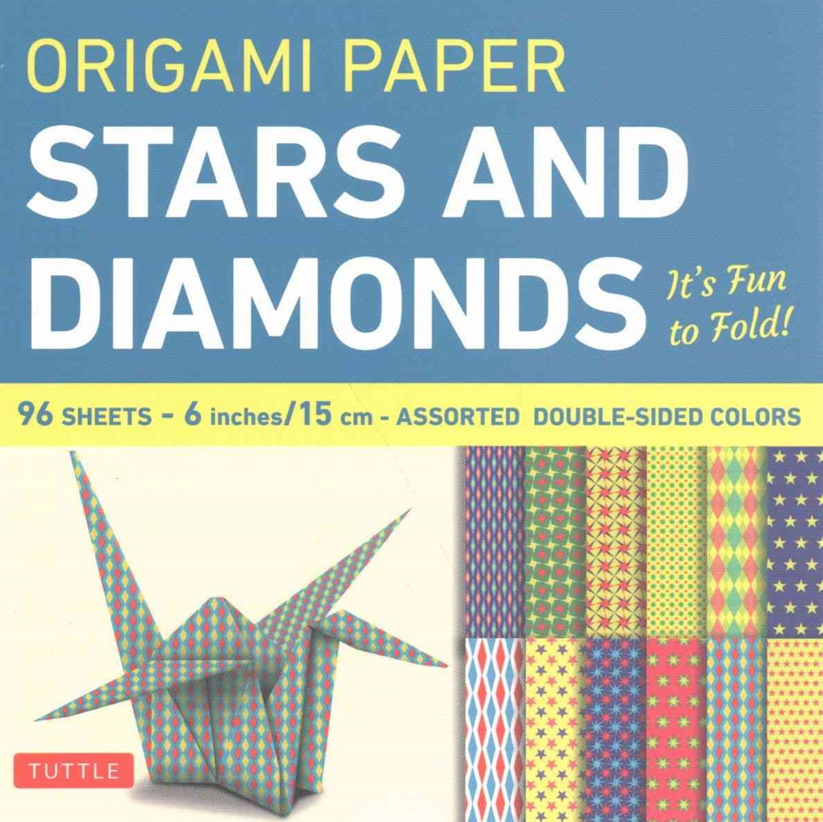 Origami Paper Stars and Diamonds
