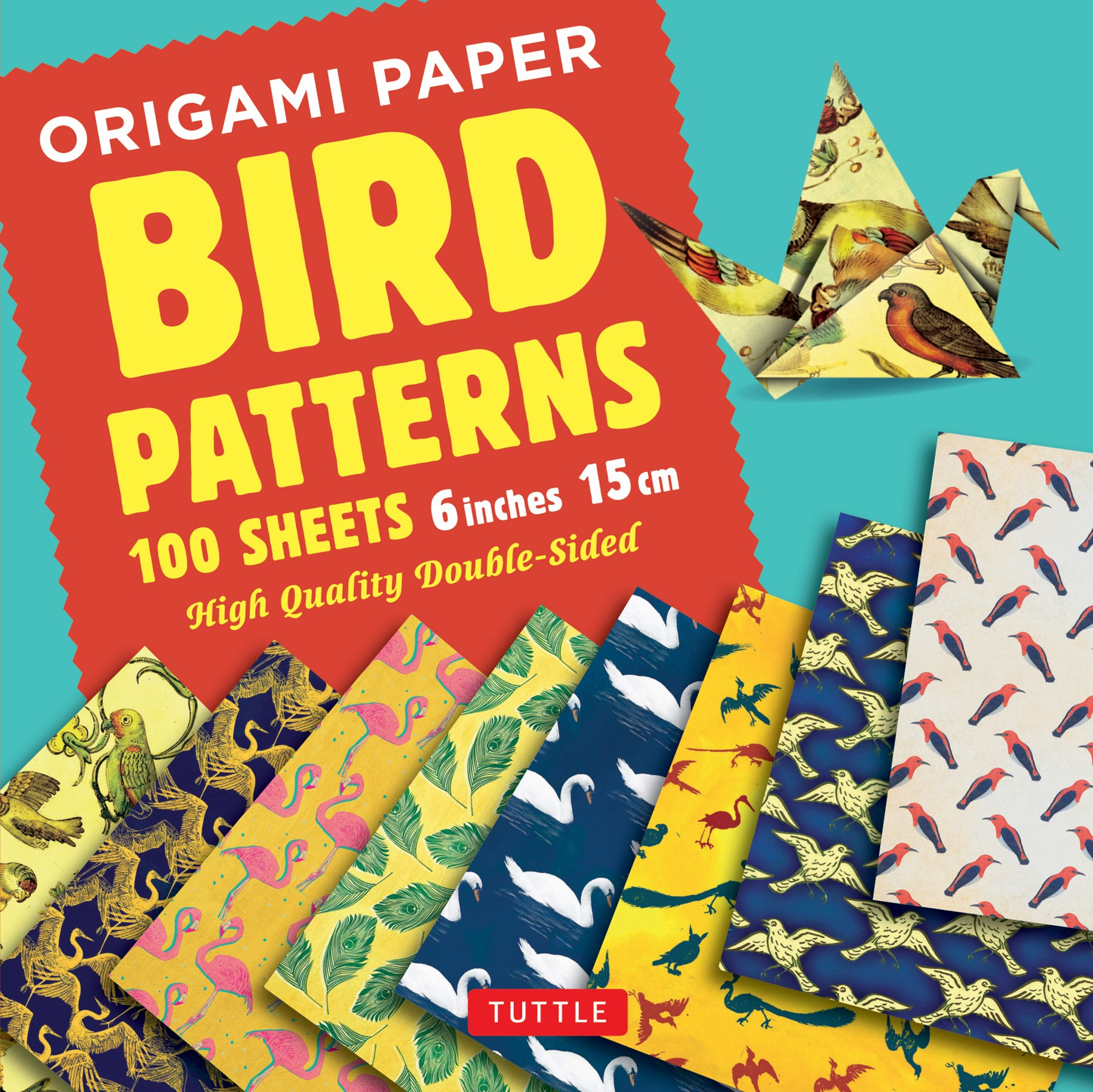 "Origami Paper Bird Patterns 6"" (15cm)"
