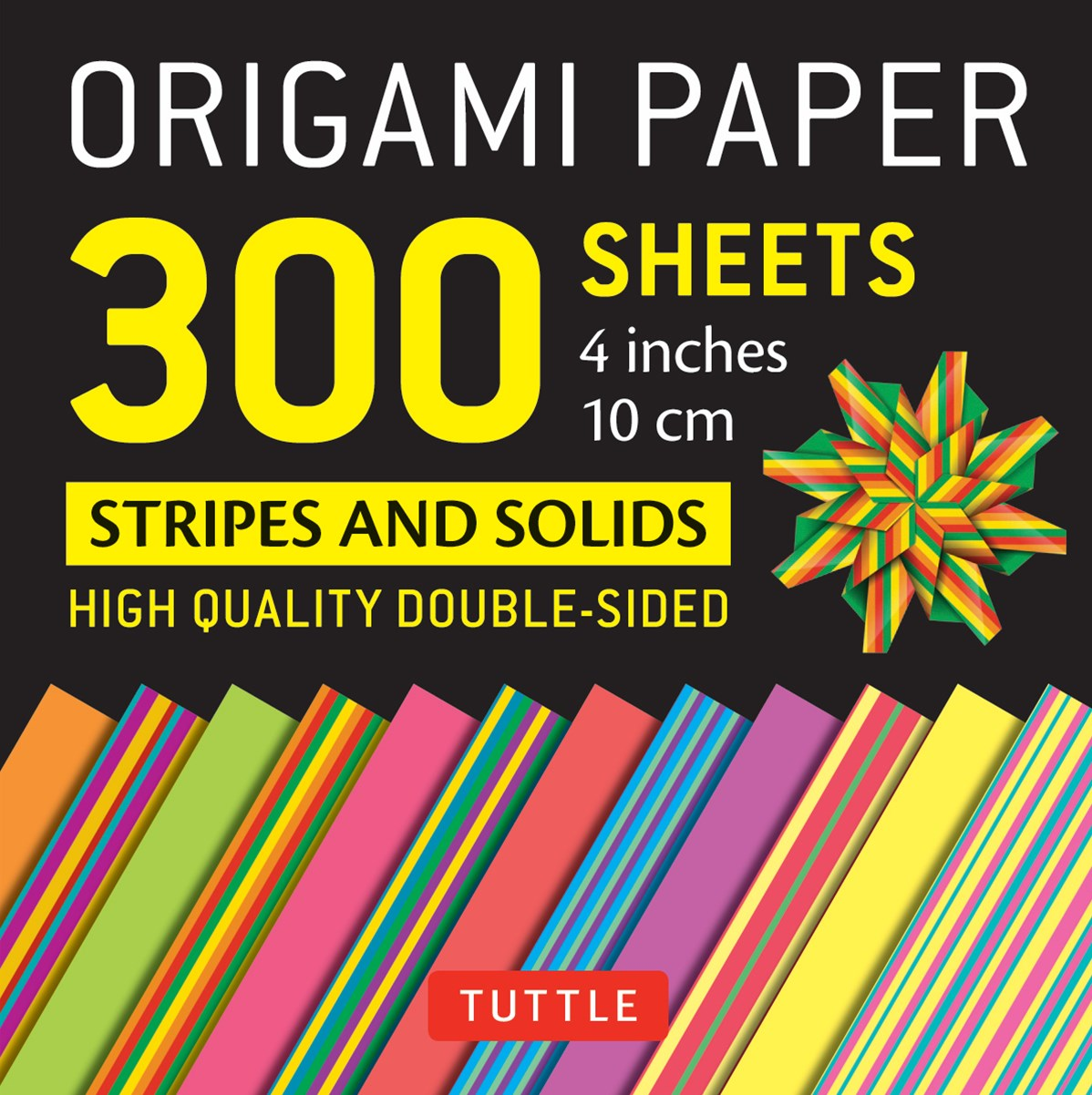Origami Paper Stripes and Solids