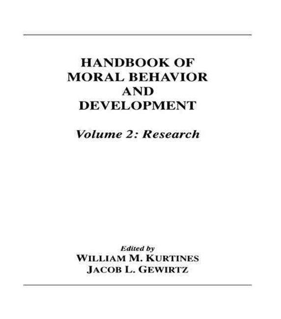 Handbook of Moral Behavior and Development - Theory