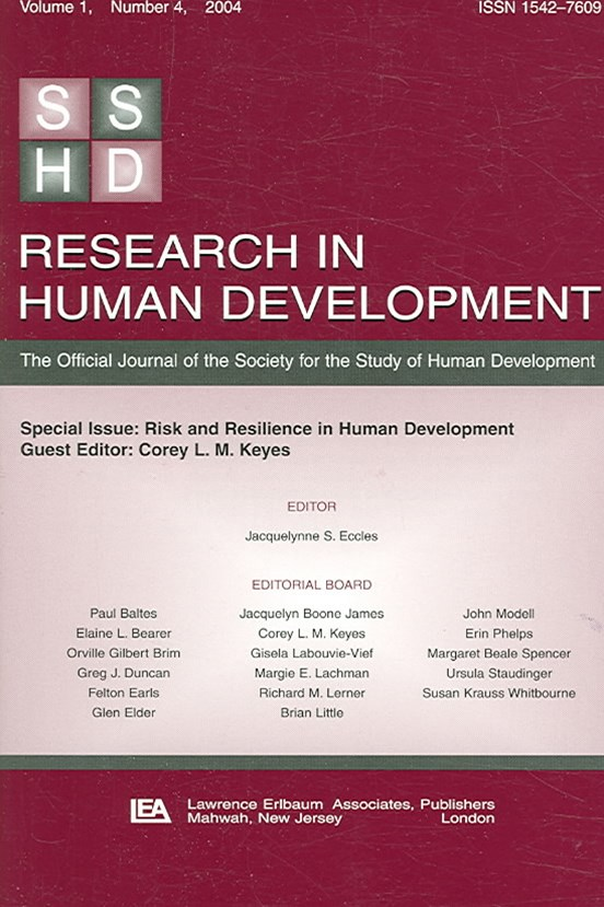 Risk and Resilience in Human Development