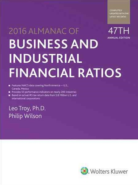 Almanac of Business and Industrial Financial Ratios (2016)