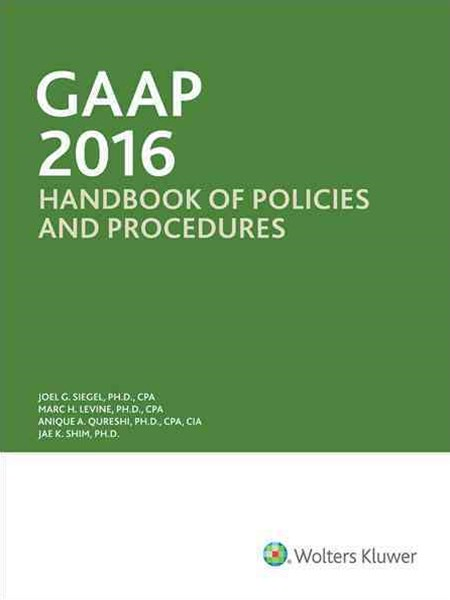 GAAP Handbook of Policies and Procedures (w/CD-ROM) (2016)