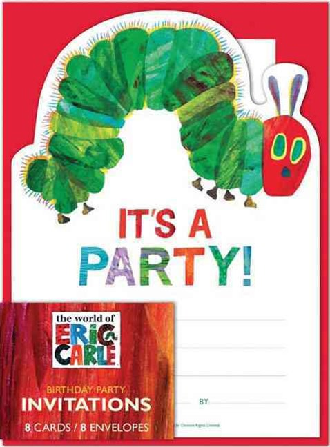 Eric Carle: The Very Hungry Caterpillar Birthday Invitations
