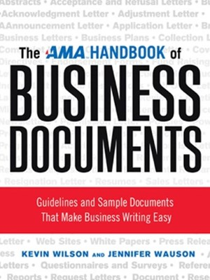 AMA Handbook of Business Documents