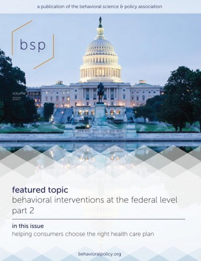 Behavioral Science & Policy