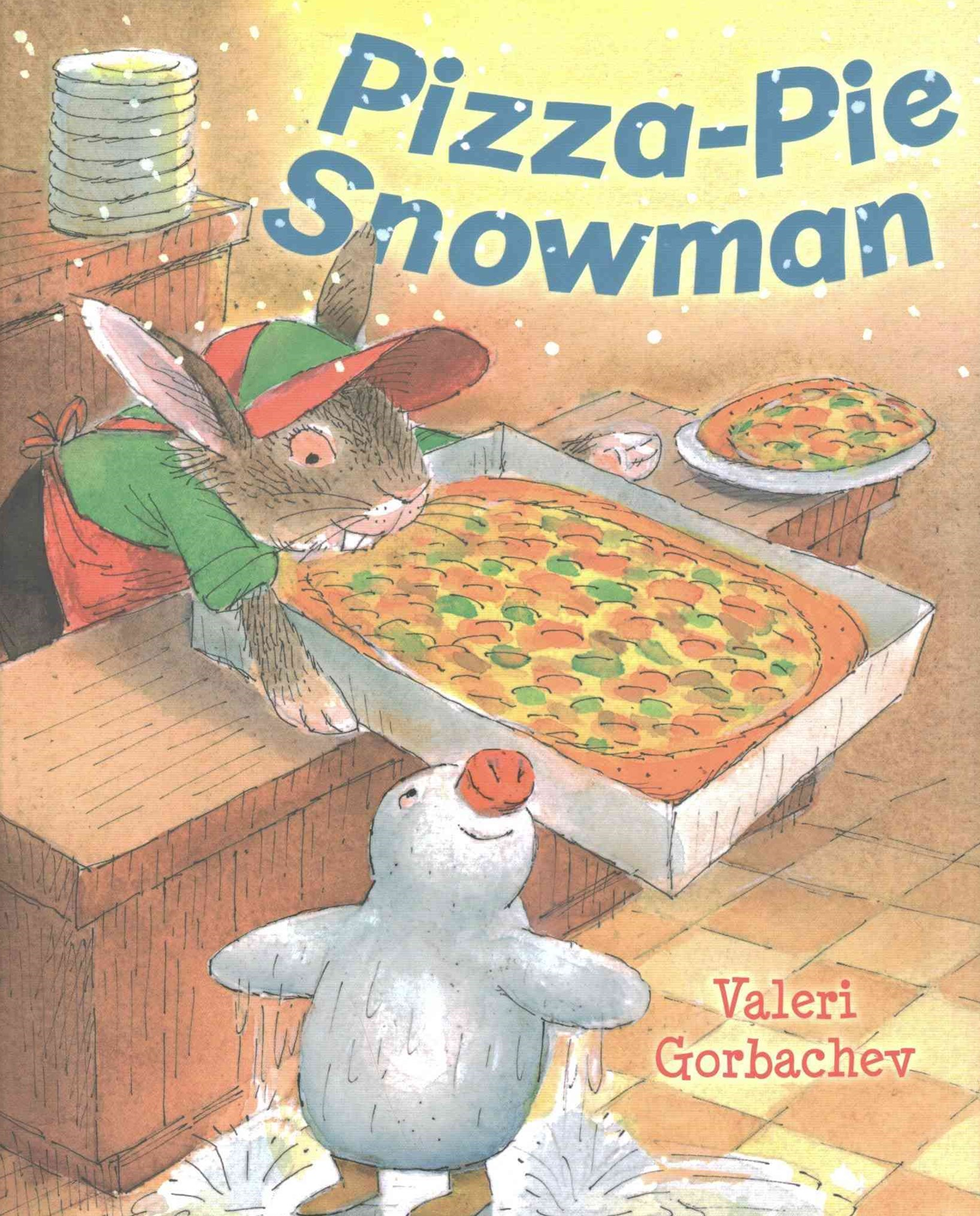 Pizza-Pie Snowman